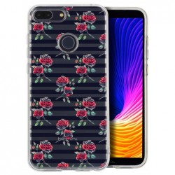 Coque roses traits noirs...