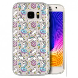 Coque licorne chat donuts...