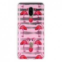 Coque flamants traits roses...